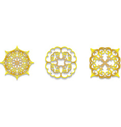 lace gold symbols vector image vector image