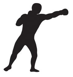 left jab outline vector image