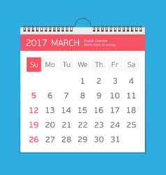 march calendar template vector image