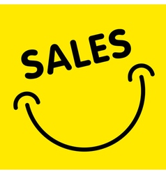 Sales smile advertising card vector image vector image
