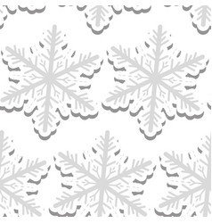 volumetric snowflakes seamless pattern new year s vector image vector image