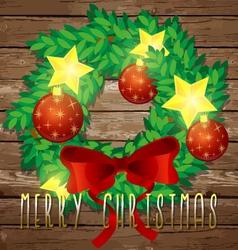 Christmas decorative wreath vector image vector image