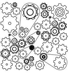 figure gears symbols icon vector image