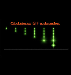 A set of create christmas animations glowing vector