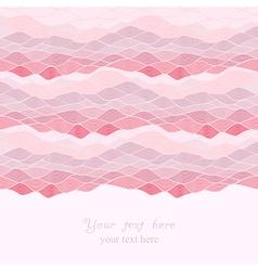 Abstract invitation card waves look like ocean vector