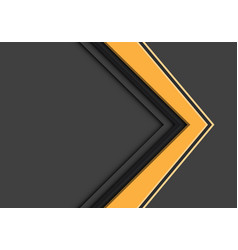 Abstract yellow arrow direction overlap on grey vector