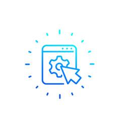 Admin panel website line icon vector