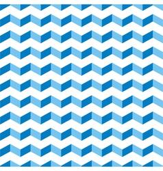 Aztec Chevron blue seamless zigzag pattern vector