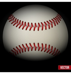 Background of baseball leather ball Various sides vector