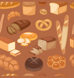 baton bread seamless pattern cartoon vector image
