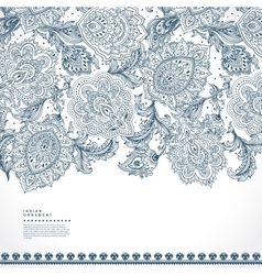 Beautiful Indian floral paisley ornament print vector