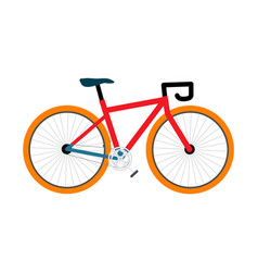 bicycle pedal-driven colorful vector image