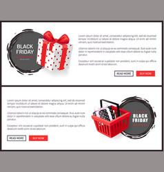 black friday sites samples hot november total sale vector image
