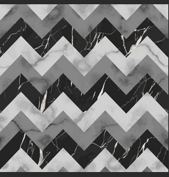 Black grey and white marble zig zag seamless vector