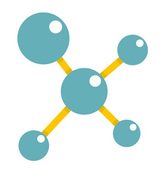 Blue molecule structure icon isolated vector