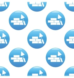 Building wall sign pattern vector image