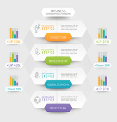 business hexagon infographics template vector image