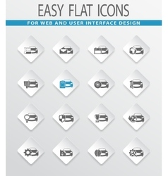 Car service icons set vector image