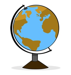 Cartoon globe vector