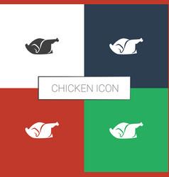 Chicken icon white background vector