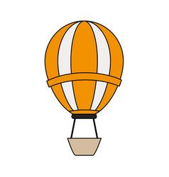 color image cartoon hot air balloon vector image
