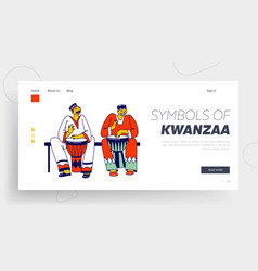 culture and music africa landing page template vector image