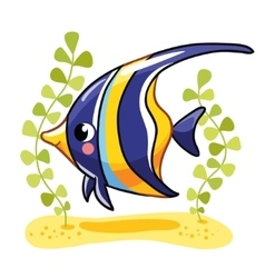 Cute fish zanclus in vector