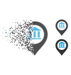 Dissolved pixel halftone bank building pointer vector