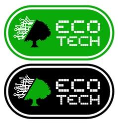 Eco tech symbols vector