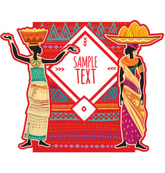 Ethnic background design for poster card vector