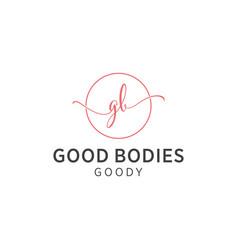 gb script logo vector image