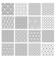 geometric seamless background striped graphics vector image