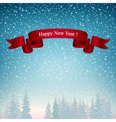 Happy New Year Landscape in Blue Shades vector