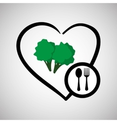 Healthy food design organic concept white vector image