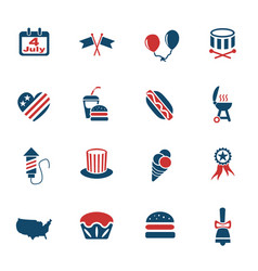 Independence day icon set vector