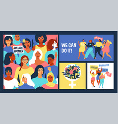 international womens day we can do vector image