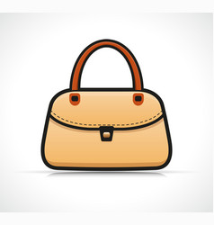 isolated handbag design concept vector image