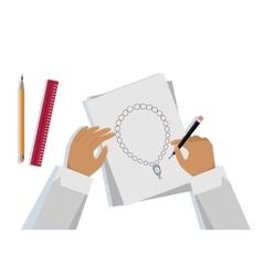 Jewelry Design Banner vector