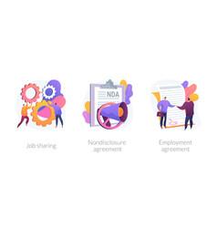 Job specification concept metaphors vector
