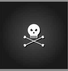 jolly roger icon flat vector image
