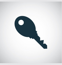 key icon for web and ui on white background vector image