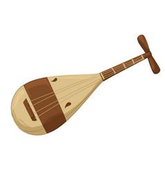 Liuqin string music instrument china culture vector