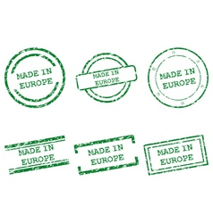 Made in Europe stamps vector image