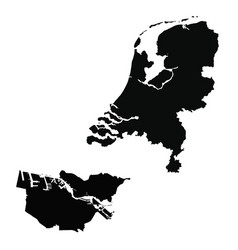 Map netherlands and amsterdam country and vector