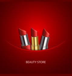 Modern lipstick set vector