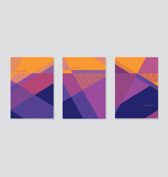 Multicolor geometric striped and triangles pattern vector