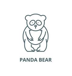 panda bear line icon linear concept vector image