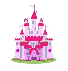 Pink Castle vector image