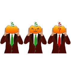 Pumpkin head man vector