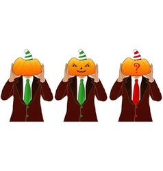 pumpkin head man vector image